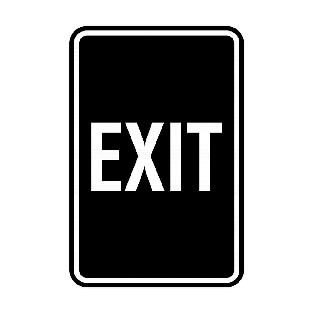 Portrait Round Exit Sign