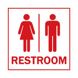 Signs ByLITA Square All Gender Restroom Sign with Adhesive Tape, Mounts On Any Surface, Weather Resistant, Indoor/Outdoor Use