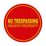 Signs ByLITA Circle No Trespassing Private Property Sign