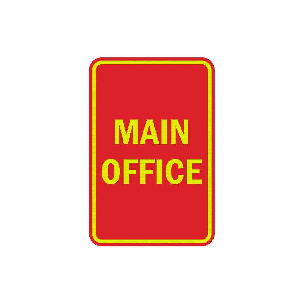 Portrait Round Main Office Sign