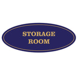Oval STORAGE ROOM Sign