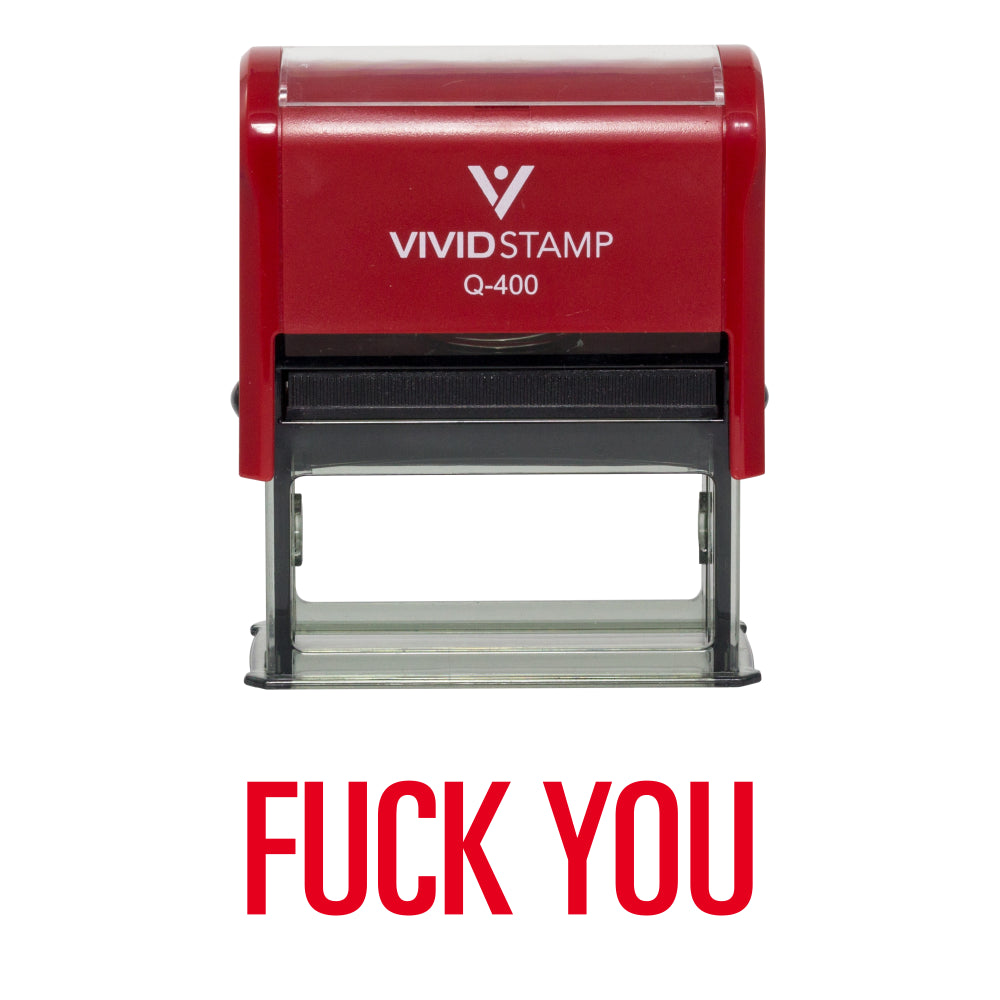 Fuck You Novelty Self-Inking Office Rubber Stamp