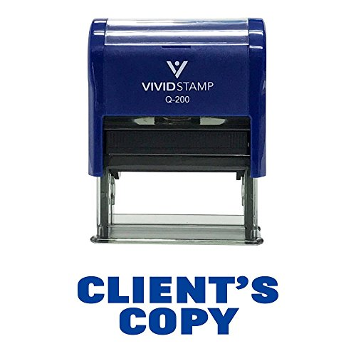Clients Copy Self-Inking Office Rubber Stamp