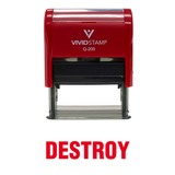Destroy Office Self Inking Rubber Stamp