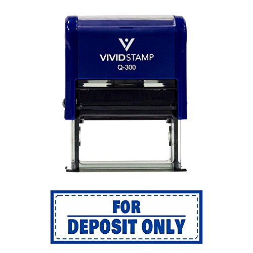 For Deposit Only W/Border Self-Inking Office Rubber Stamp