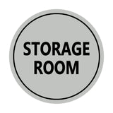 Light Gray / Black Signs ByLITA Circle Storage Room Sign
