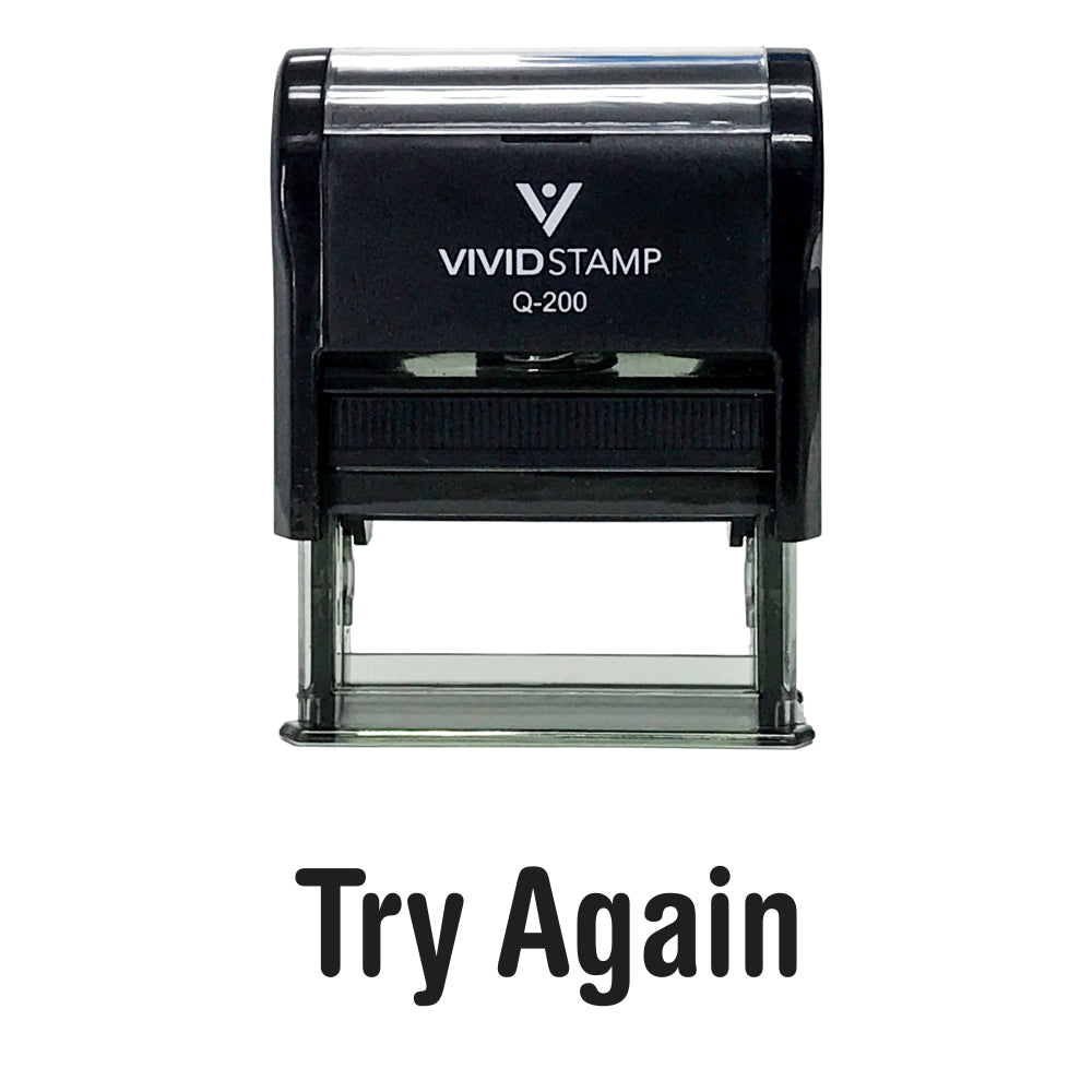 Try Again Self Inking Teacher Rubber Stamp