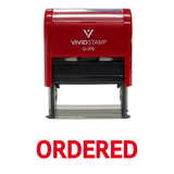 Ordered Self Inking Rubber Stamp