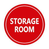 Red / White Signs ByLITA Circle Storage Room Sign