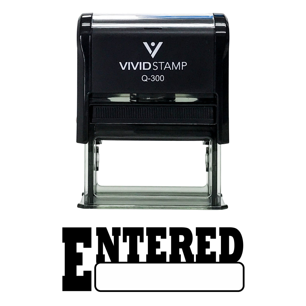 Entered Office Self-Inking Office Rubber Stamp