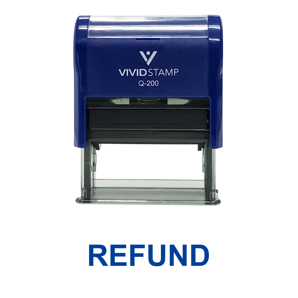 REFUND Self Inking Rubber Stamp