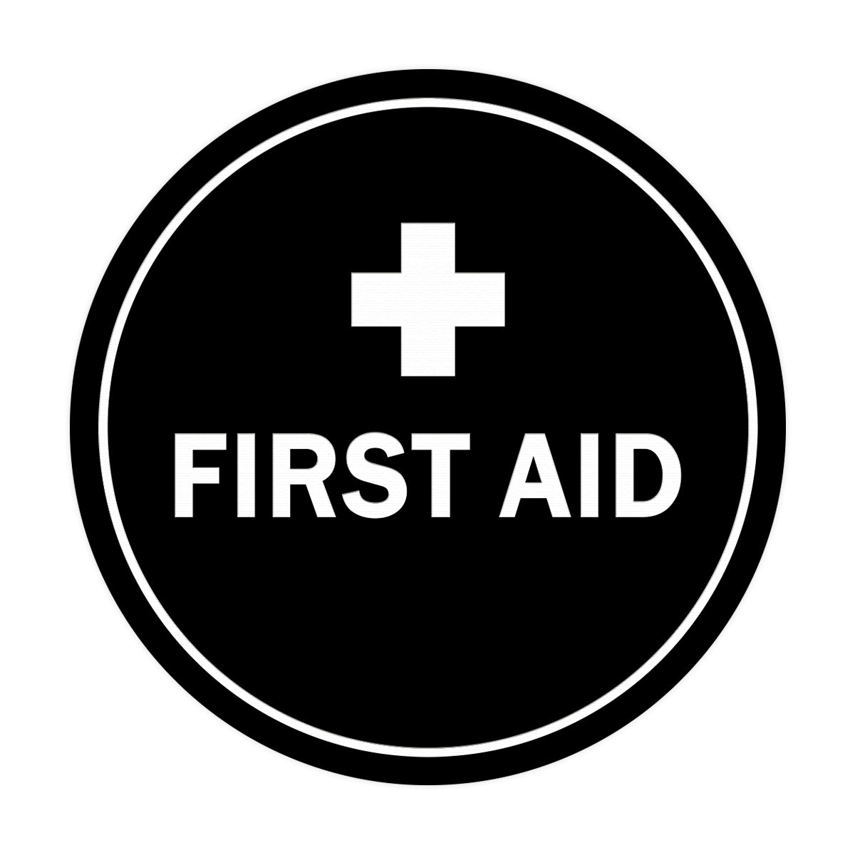 Signs ByLITA Circle First Aid Sign