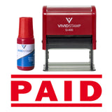 Paid Self Inking Rubber Stamp Combo With Refill