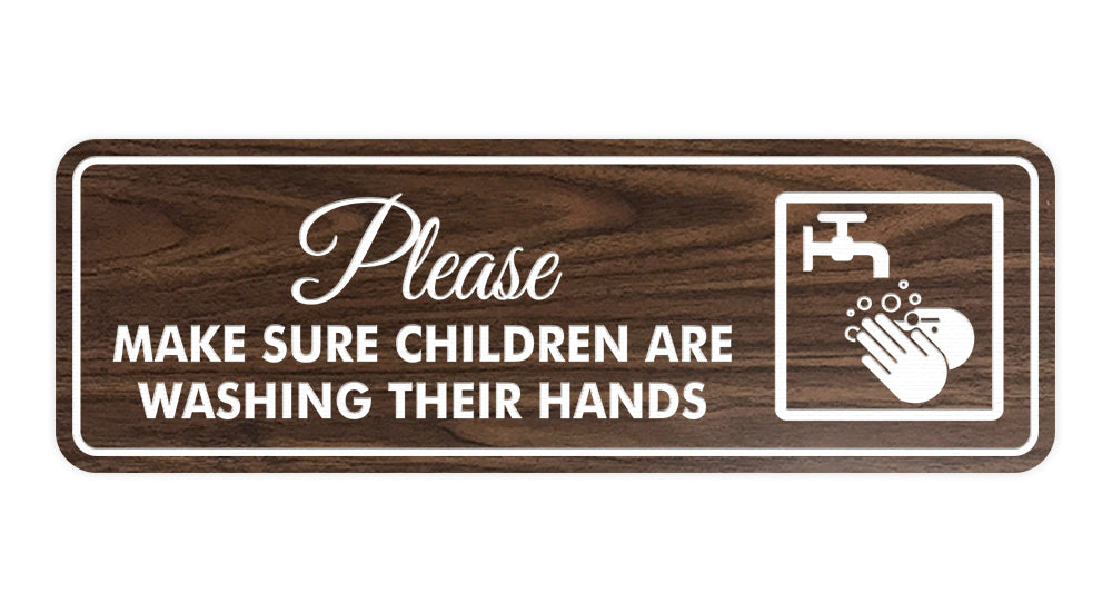 Standard Please Make Sure Children Are Washing Their Hands Sign