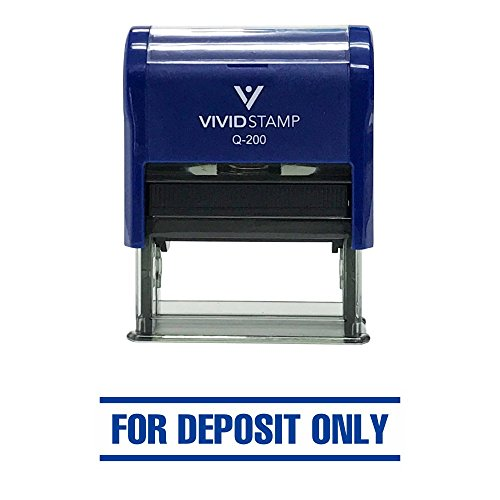 For Deposit Only W/Bars Self-Inking Office Rubber Stamp
