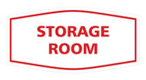 Red / White Signs ByLITA Fancy Storage Room Sign