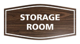 Walnut / White Signs ByLITA Fancy Storage Room Sign