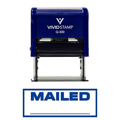 Mailed Self-Inking Office Rubber Stamp
