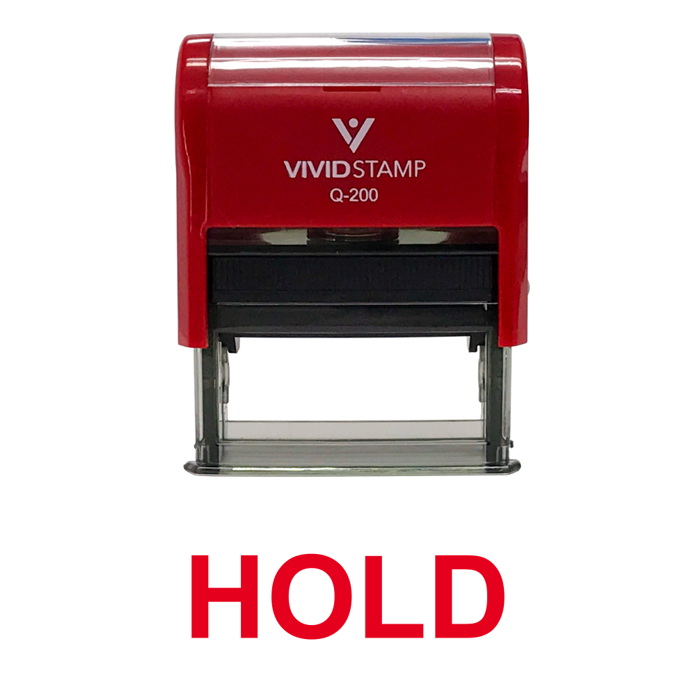 Hold Self Inking Rubber Stamp