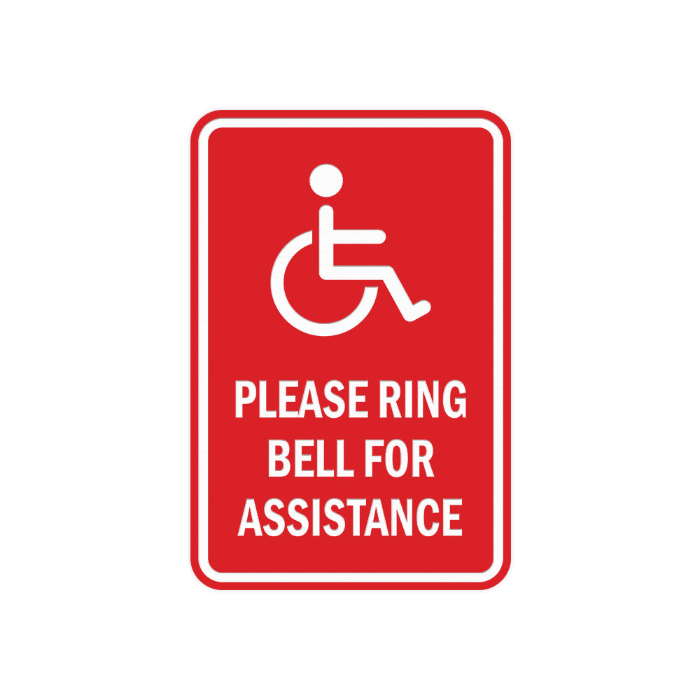 Portrait Round Please Ring Bell For Assistance Sign