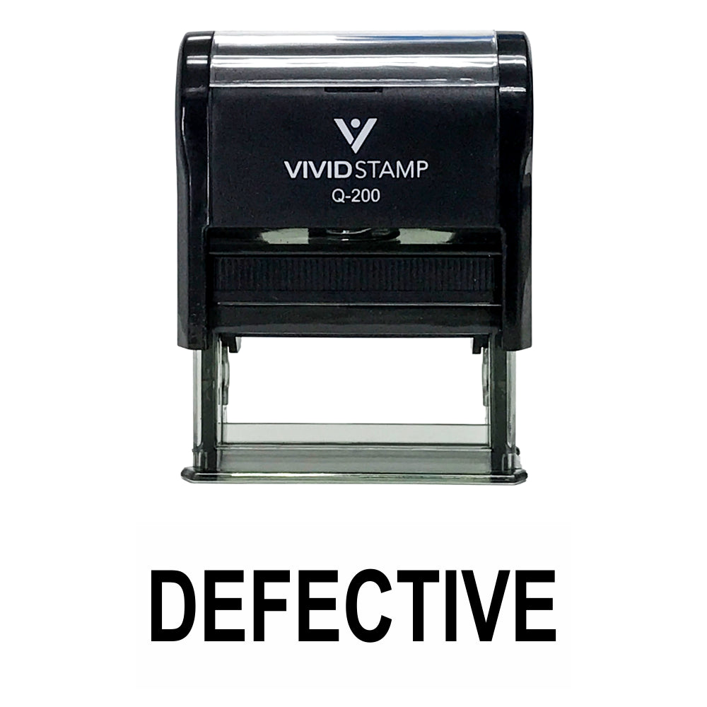 Defective Self Inking Rubber Stamp