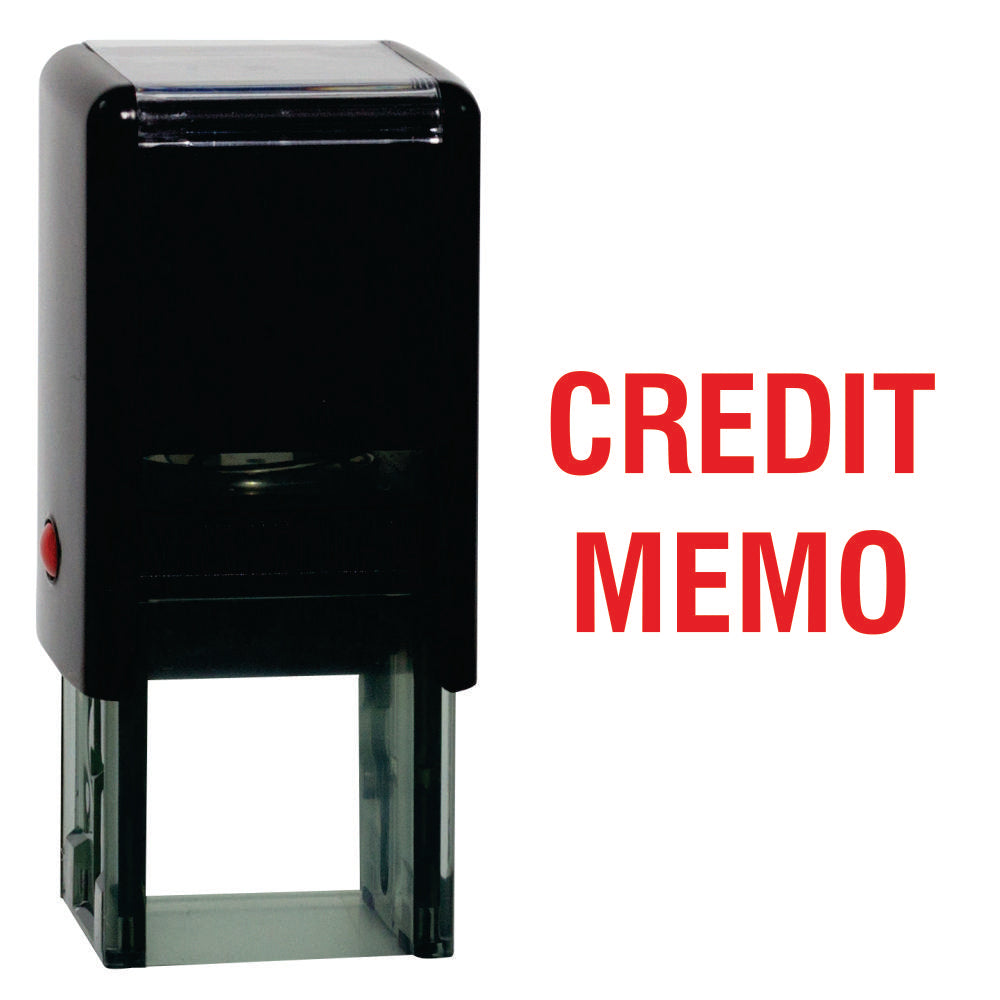 Square Credit Memo Self Inking Rubber Stamp