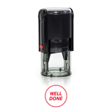 Round Well Done Self Inking Rubber Stamp Size 1-1/4""