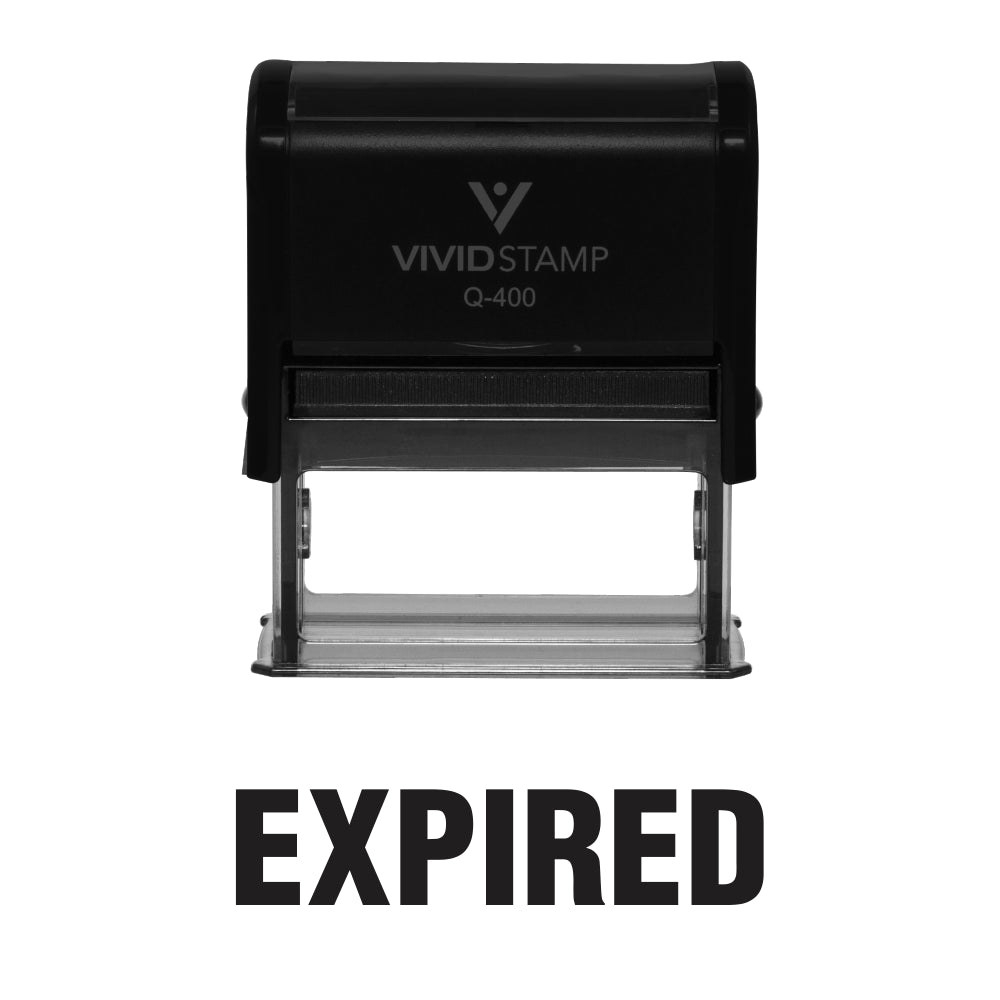 Expired Self Inking Rubber Stamp