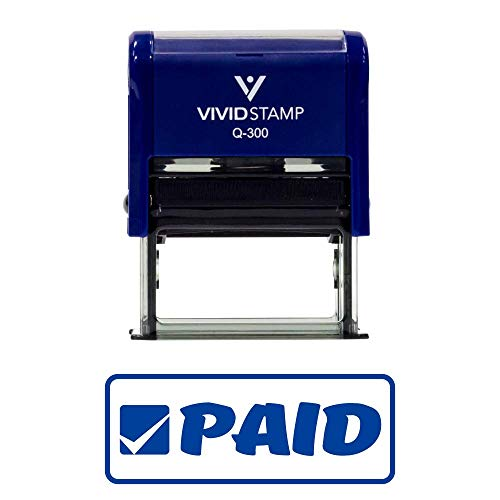 Paid W/Border Office Self-Inking Office Rubber Stamp