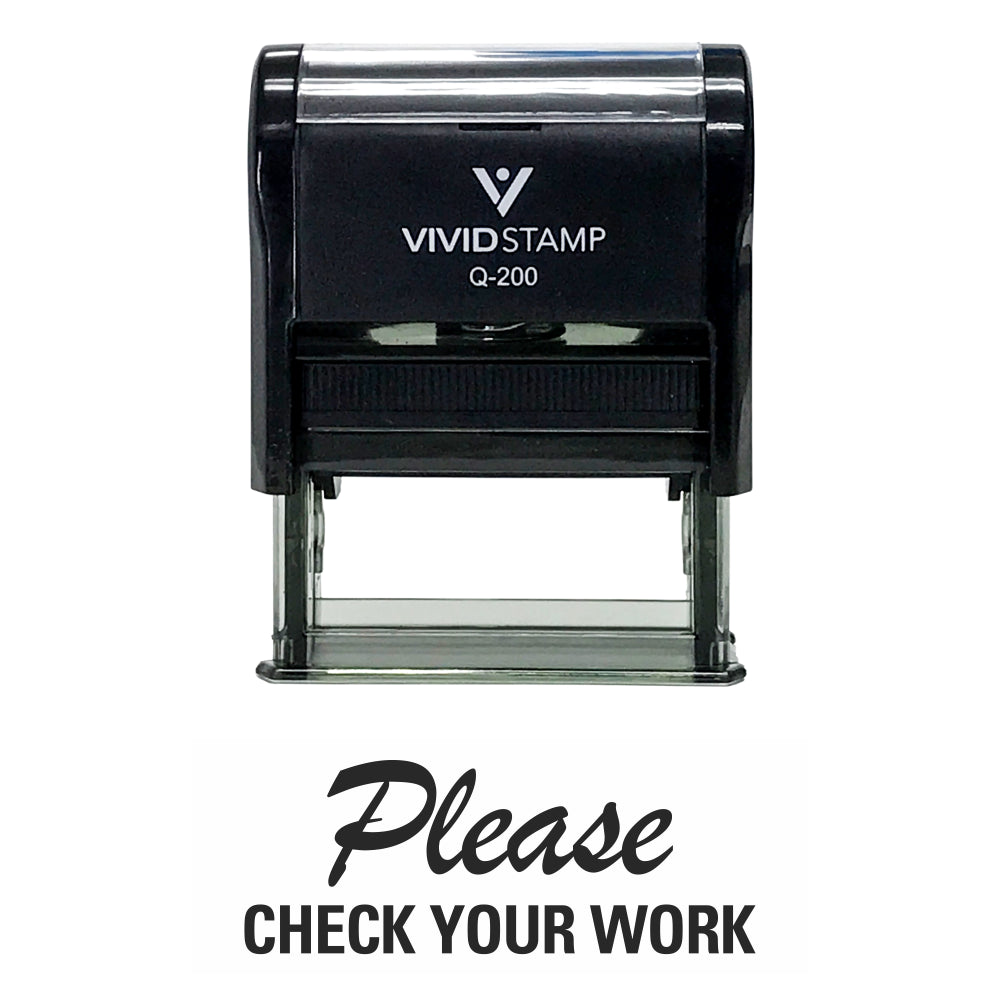 Please Check Your Work Teacher Self Inking Rubber Stamp