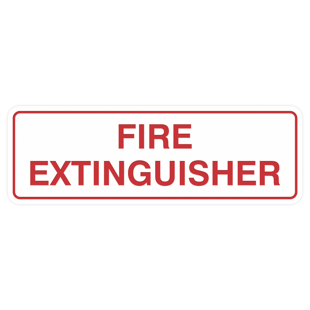 Standard Fire Extinguisher Sign