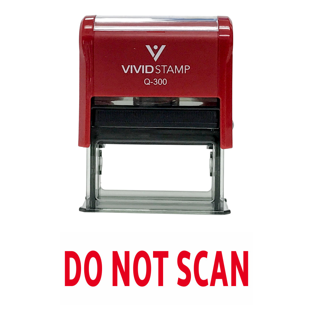 Do Not Scan Self Inking Rubber Stamp