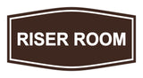 Dark Brown Signs ByLITA Fancy Riser Room Sign