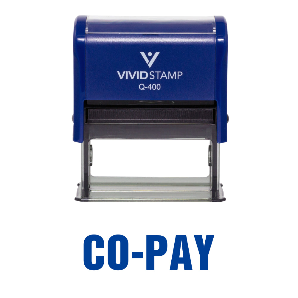Co-Pay Self Inking Rubber Stamp