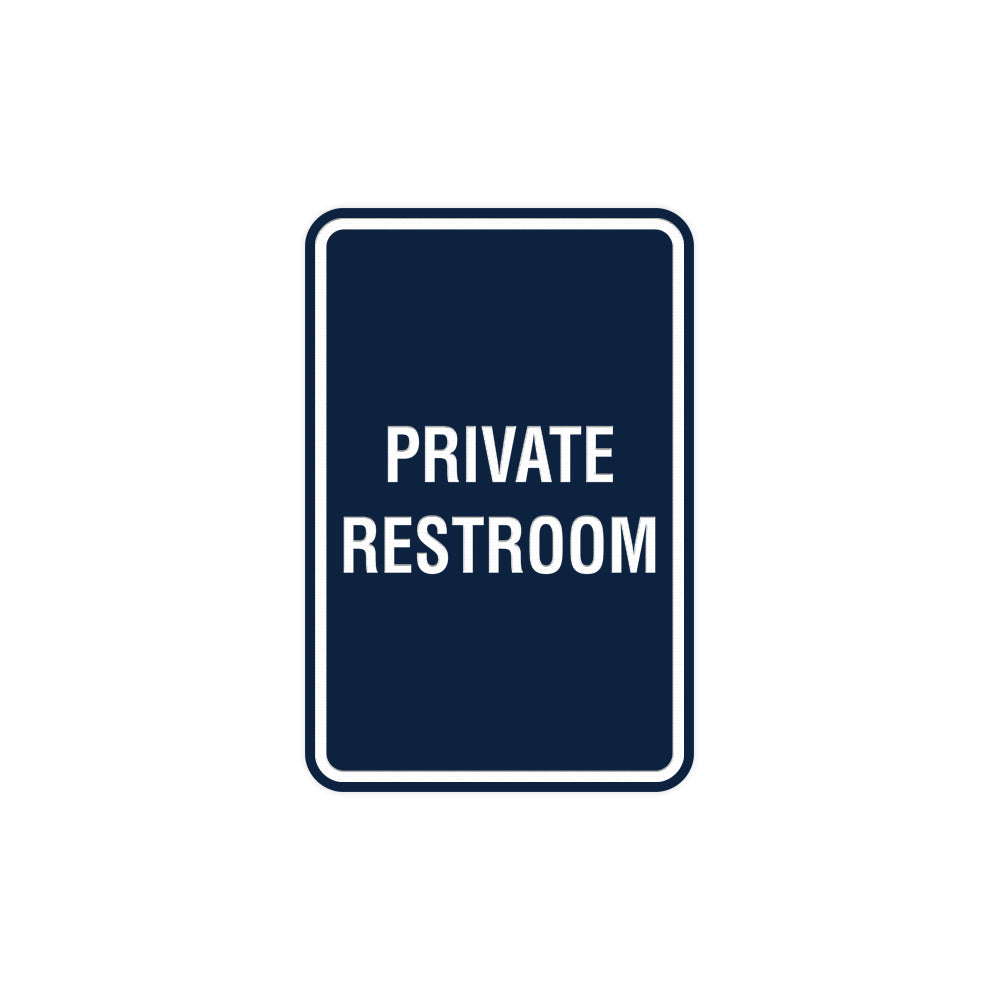 Portrait Round Private Restroom Sign