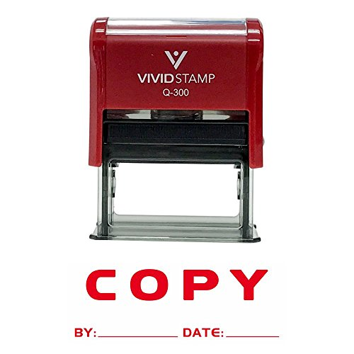 Copy By Date Self Inking Rubber Stamp