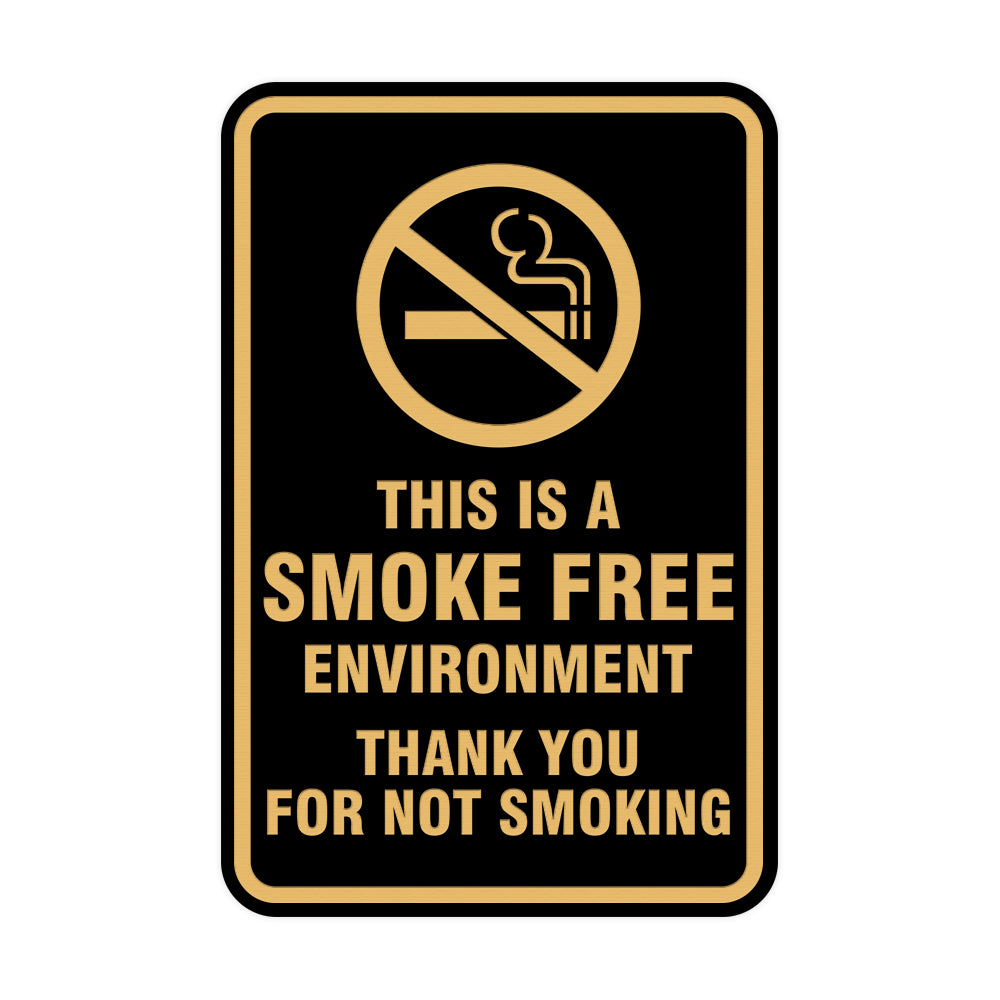 Portrait Round This Is A Smoke Free Environment Thank You For Not Smoking Sign