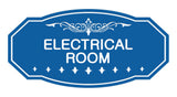 Blue Victorian Electrical Room Sign