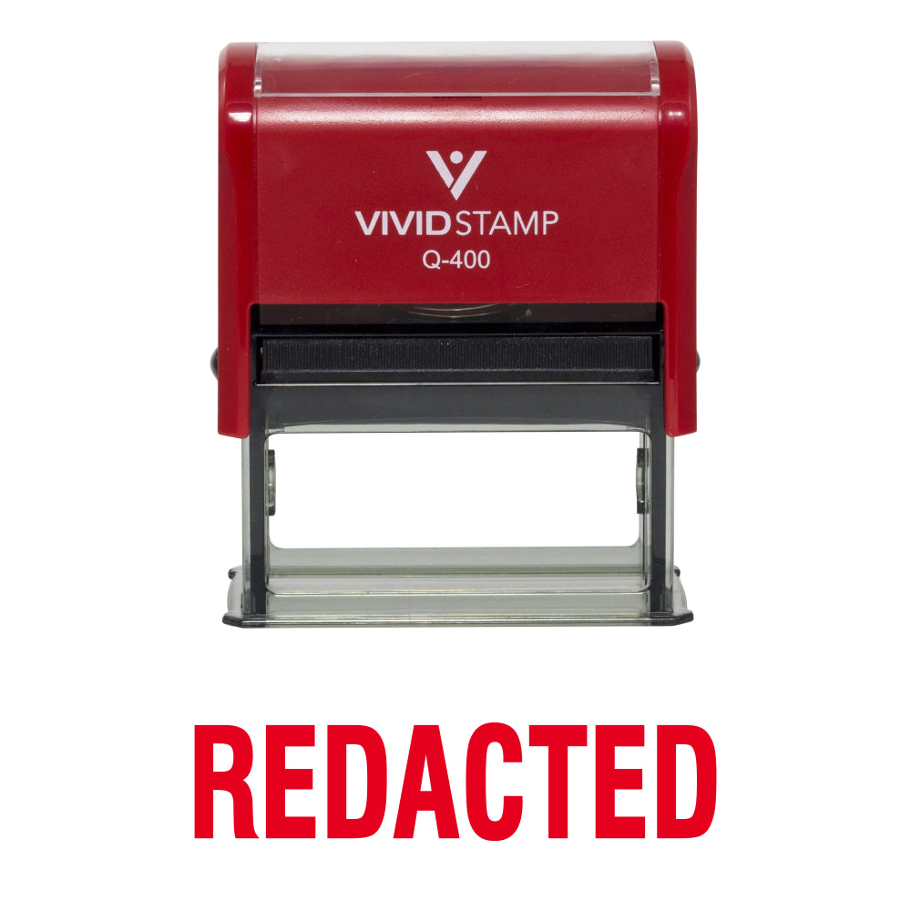 Redacted Self Inking Rubber Stamp