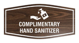 Fancy Complimentary Hand Sanitizer Sign
