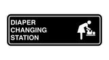 Black Signs ByLITA Standard Diapers Changing Station Sign