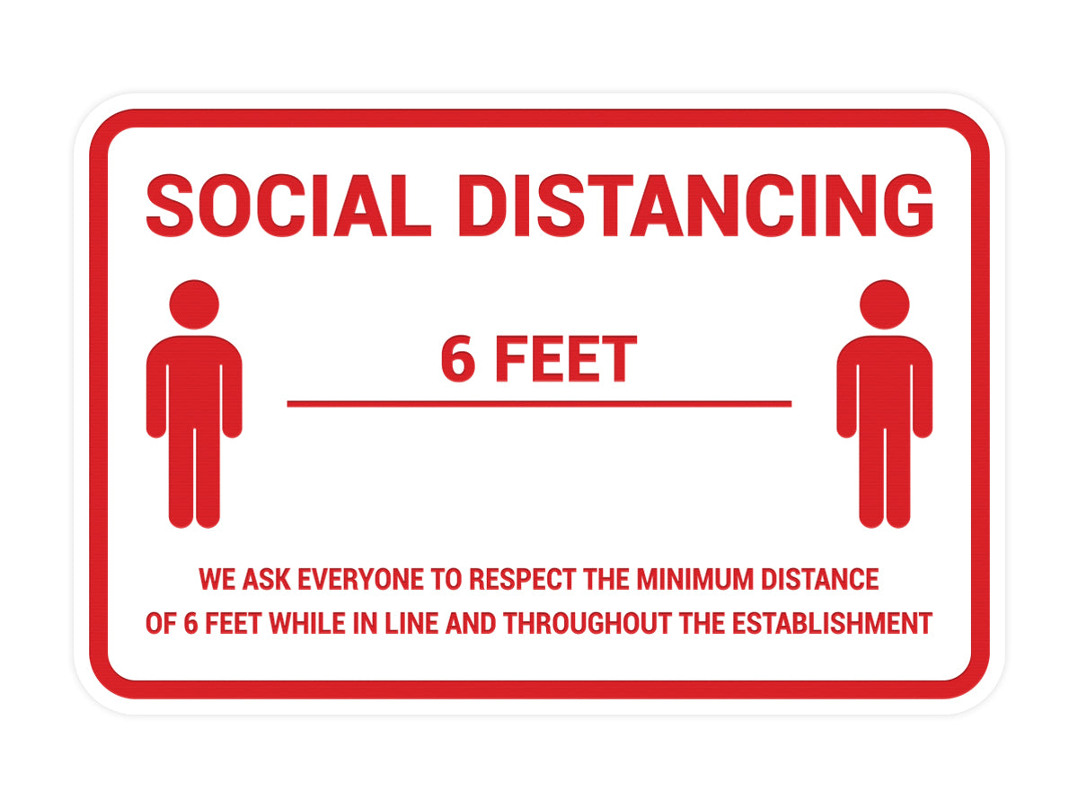 Classic Framed Social Distancing Sign