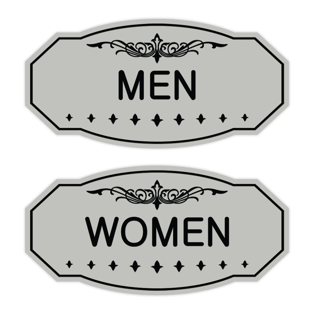 Victorian Men Women Sign Set