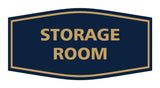 Navy Blue / Gold Signs ByLITA Fancy Storage Room Sign