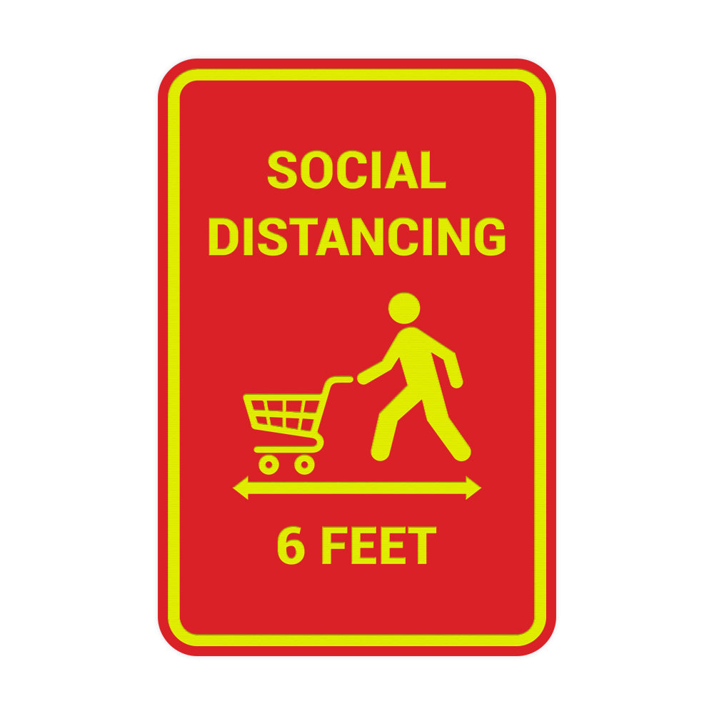 Portrait Round Social Distancing 6 Feet Sign