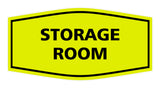 Yellow / Black Signs ByLITA Fancy Storage Room Sign