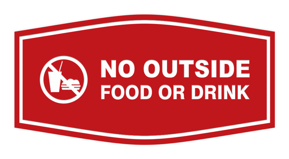 Fancy No Outside Food or Drink Sign