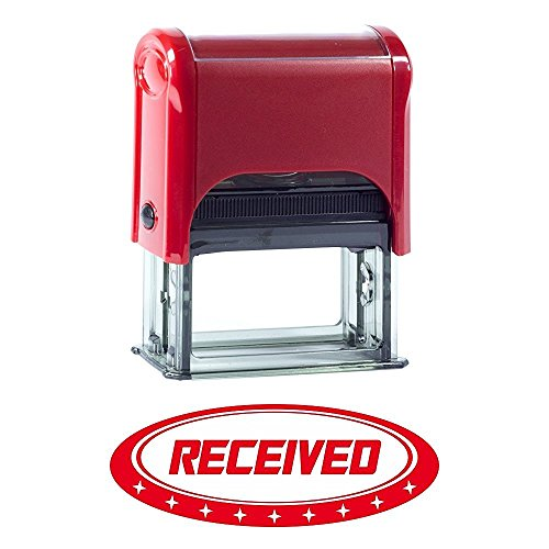 Received Designer Office Self-Inking Office Rubber Stamp