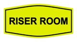 Yellow / Black Signs ByLITA Fancy Riser Room Sign