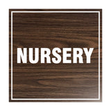 Signs ByLITA Square Nursery Sign with Adhesive Tape, Mounts On Any Surface, Weather Resistant, Indoor/Outdoor Use